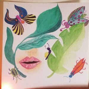 Hand painted watercolor